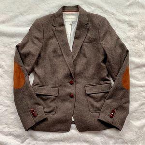 EUC BR Brown Wool Blend Hacking Jacket/Blazer